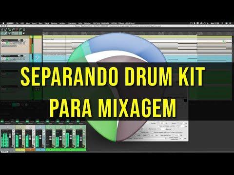 Separando o Drum Kit para a Mixagem [REAPER]