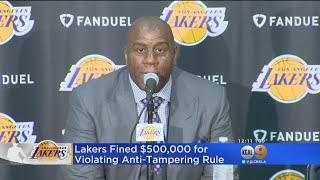 Lakers Fined $500,000 For