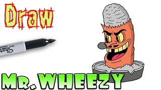 How to Draw Mr. Wheezy | Cuphead