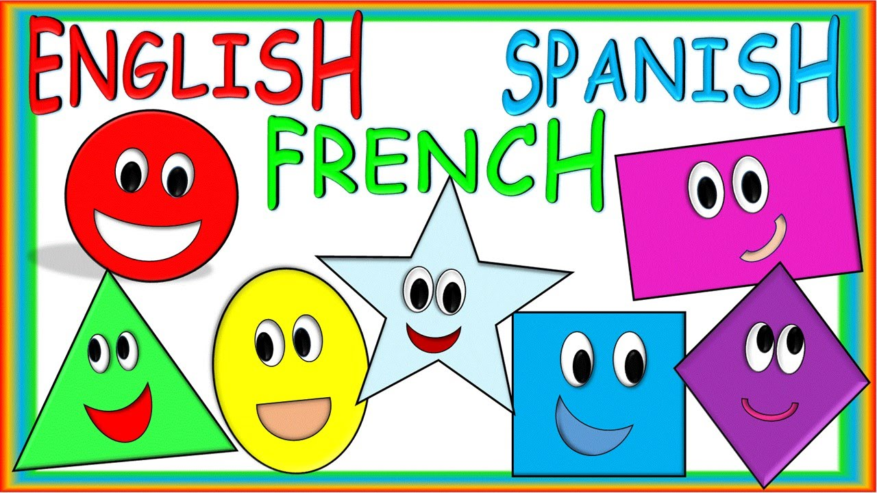 shapes for children in english spanish and french