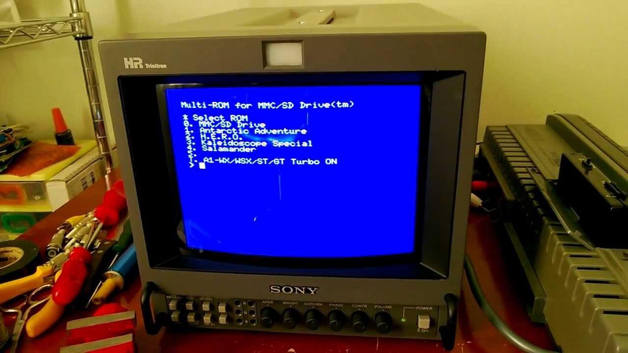 Monitor Sony 8 U0026quot  No Msx Via Rgb