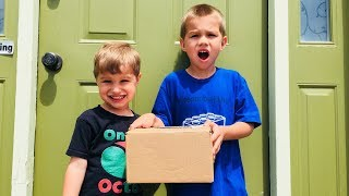 The Boys Get Mail! Could It Be Lego, Toys or Candy? Build and Play Fun