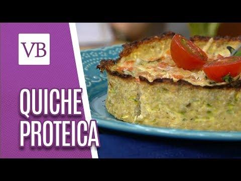 Quiche Proteica (Massa de Frango) - Você Bonita (02/08/18)