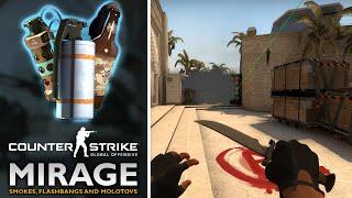 CS GO Smokes on Mirage (Smoke Spots Tricks/Tutorial)