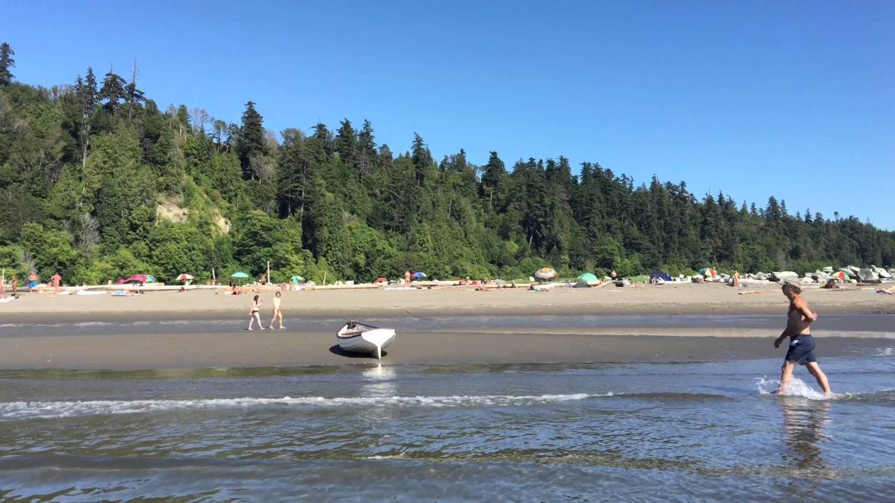 4k Uhd Hot Summer Day At Wreck Beach Vancouver Bc