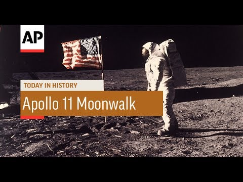Apollo 11 Moonwalk - 1969 | Today In History | 20 July 17