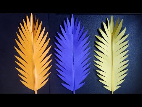 EASY PAPER LEAF CUTTING DIY VIDEO FOR HOME AND PARTY DECORATION