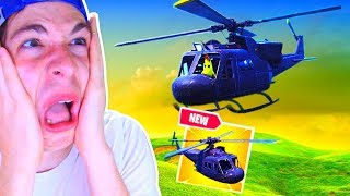 *NEW* SECRET HELICOPTER! at FORTNITE Battle Royale *EPIC FAILS*