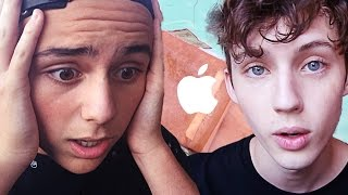 APPLE WATCH POOL PRANK ON MY BROTHER(Tyde's video: https://www.youtube.com/watch?v=8EYjnQmu7SM SUBSCRIBE! :) Merchandise! http://www.districtlines.com/Troye-Sivan ..., 2015-06-12T10:37:22.000Z)