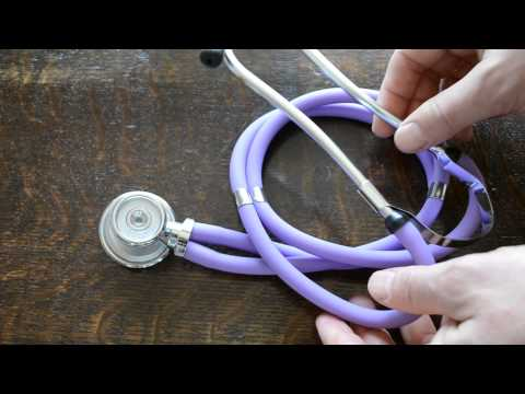 Stethoscope review Purple Sprague rappaport stethoscope