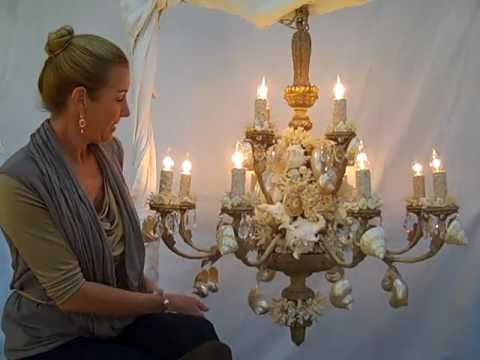 Big seashell chandelier by heather kendall designs youtube big seashell chandelier by heather kendall designs aloadofball Images