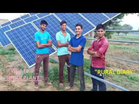 Visit to a solar plant in village