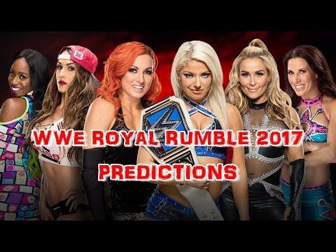 WWE Royal Rumble 2017 Becky Lynch, Nikki Bella & Naomi vs. Alexa Bliss, Mickie James and Natalya