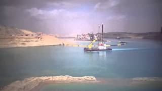 Witness the miracle of the Suez Canal Aalmzhlh video !!