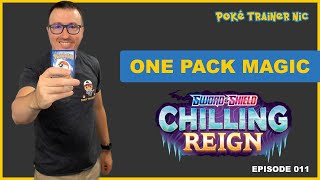 Pokémon Sword & Shield Chilling Reign One Pack Magic or Not, Episode 11 #Shorts
