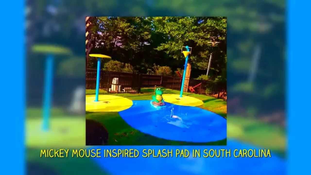 my splash pad residential backyard water park splashpad youtube