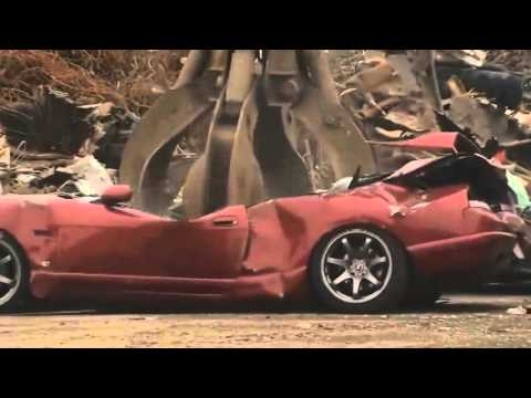 Illegal 1995 Nissan Skyline GT-R (R33) gets crushed by U.S officials