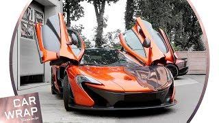 Wow Factor Alert! McLaren P1 wrapped Chrome Rose Gold