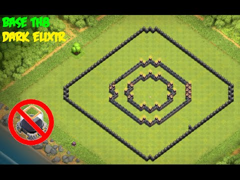 Clash Of Clans - Town Hall 8 (th8) - Best Protect Dark Elixir + Replay. Saving/Farming Base 2016