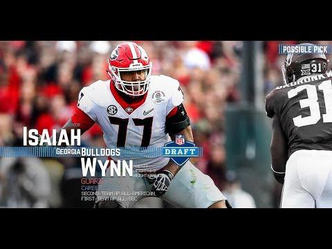 Isaiah Wynn Getting Drafted | Round 1, Pick 23 | #DawgsInTheNFL