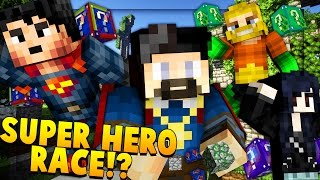 BEST SUPERHERO LUCKY BLOCK RACE CHALLENGE! Minecraft - Lucky Block Mod