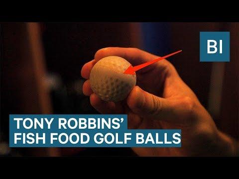 Tony Robbins Hits Fish Food Golf Balls That Dissolve Into The Ocean