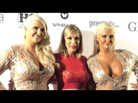 Kristina Shannon and Karissa Shannon at the GLAM Beverly Hills Salon Grand Opening And Ribbon Cuttin