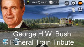Railfanning George H.W. Bush Funeral Train Tribute Trainz Driver 2