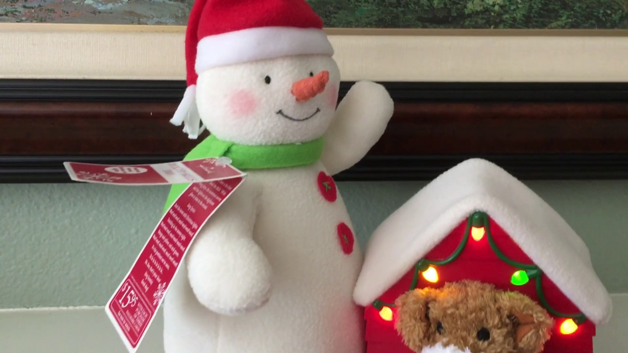 Vivians Hallmark Singing Plush Snowman Toy 2011 Youtube