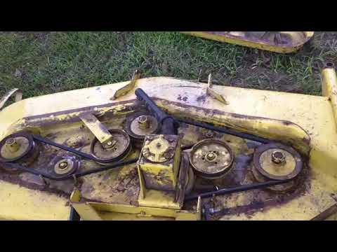 john deere 400 deck belt replacement and spring fixstyoutube