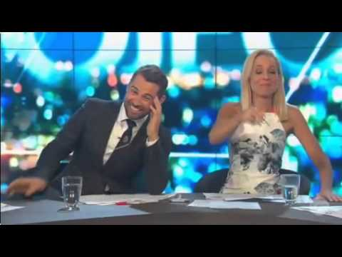 BLOOPER  - The Project  - Carrie Bickmore says 'breast' instead of 'bash' 4/01/2016