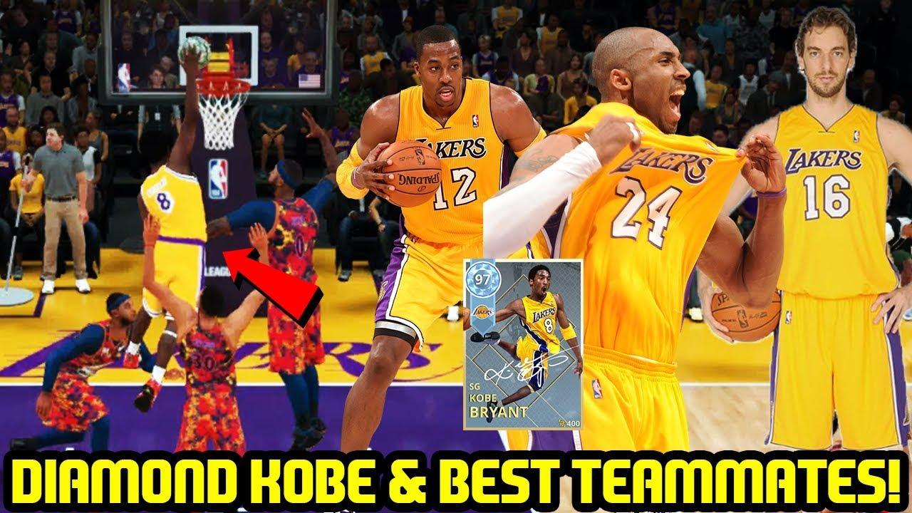 DIAMOND KOBE   BEST ALL TIME TEAMMATES! NBA 2K18 MYTEAM GAMEPLAY ... fc76bf87d