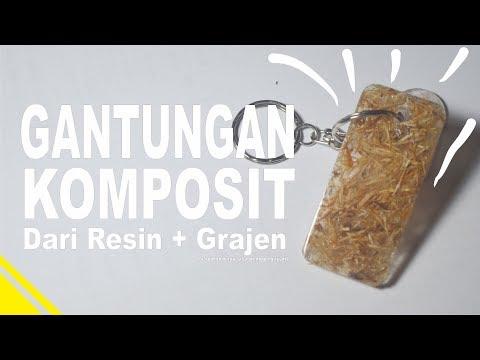 DIY. Gantungan Komposit | Resin + Grajen(Serpihan kayu)  | Resin Art | Easy Project  for Begginers