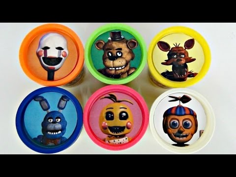 FIVE NIGHTS AT FREDDY'S Playdoh Toy Surprises