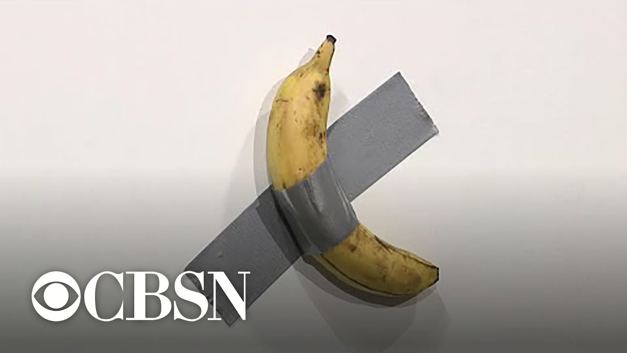 Artist sells banana duct,taped to wall for $120,000 at Art Basel