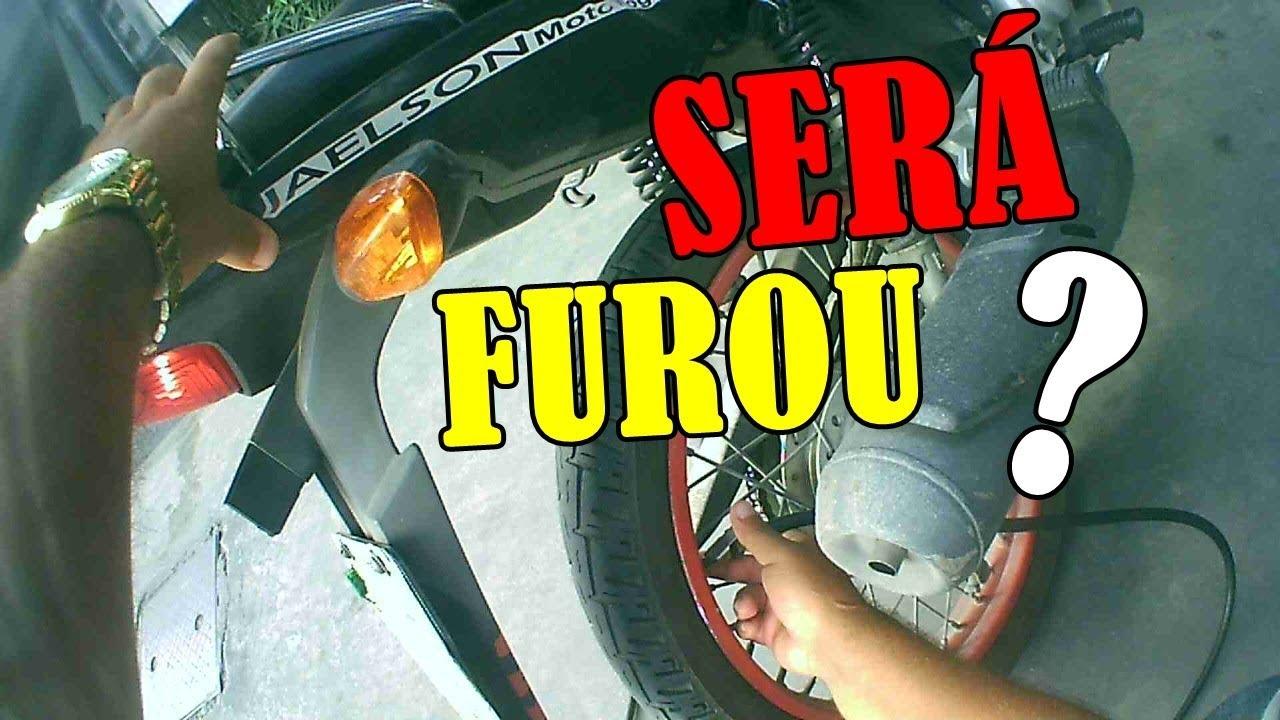 Calibrar o pneu da moto
