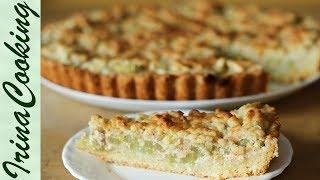 видео Рецепт пирога с ревенем