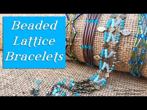 Beaded Lattice Bracelets-Jewelry Design Tutorial thumbnail