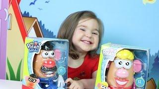 Приколы с Мисс и Мистер картофельная голова! Mrs&Mr Potato Head toy!