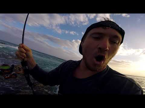 Amazing Saltwater Fishing With Bass Rod N Reel