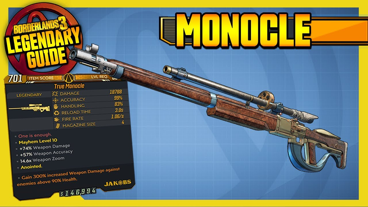 MONOCLE | Legendary Weapons Guide!!! | Borderlands 3 thumbnail