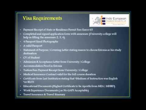 Study in Estonia - (Student Visa Process)