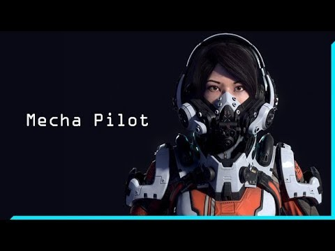 Mecha Pilot - Rigged 3D Model