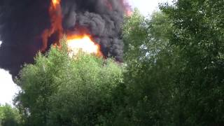 Взрыв емкостей с топливом на базе БРСМ. Васильков 9 июня.
