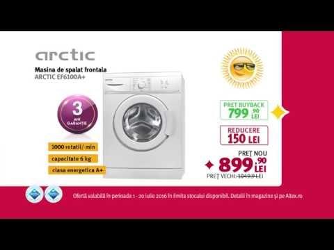 Reclamă ALTEX - mașină de spălat ARCTIC - iulie 2016