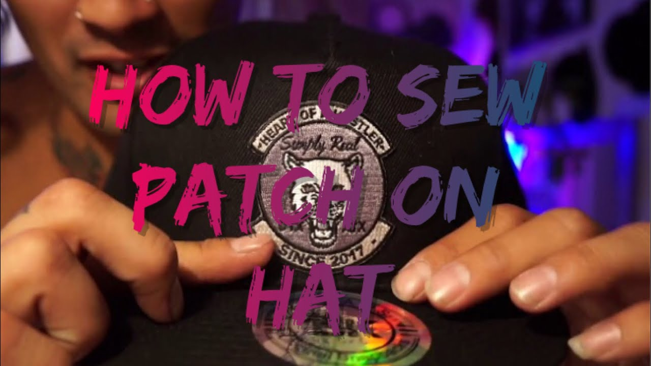 How to sew patch on hat