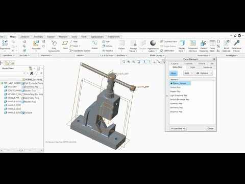 SIMPLIFIED REPRESENTATION  IN CREO PARAMETRIC INTRODUCTION- PART 1