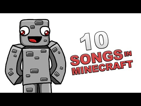 10 SONGS IN MINECRAFT | 10 Songs in Real Life [Parodie] | Alphastein
