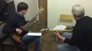 Фрагмент с урока бас-гитары