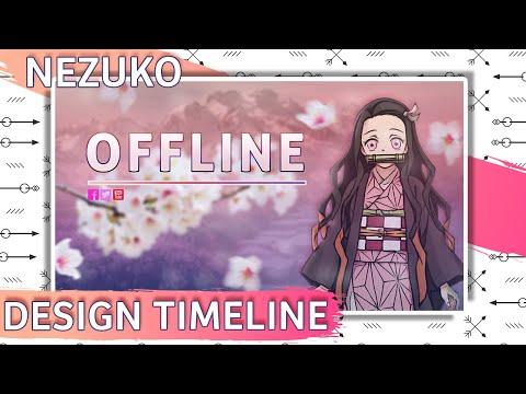 Designing a Nezuko Offline Screen
